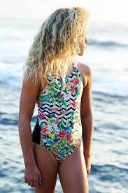 Escargot Tropical One Piece Bather