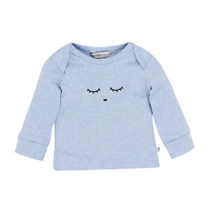 Fox and Finch Smile Face Tee Blue Sizes 3-9months