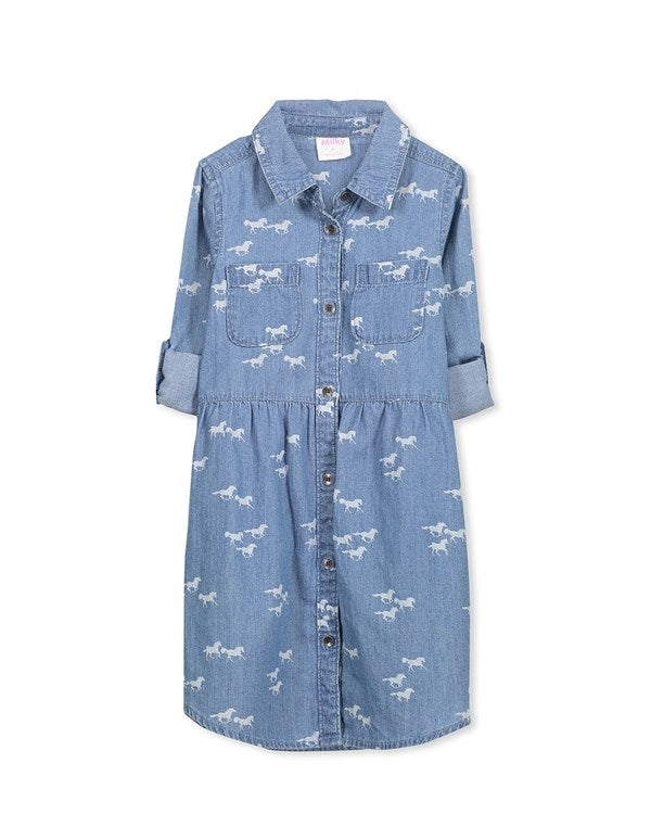 Milky Chambray Dress