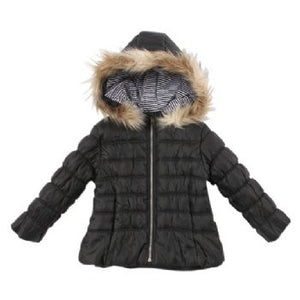FOX & FINCH Girl Quilted Jacket w Hood