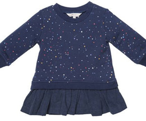 Fox & Finch Baby Girl Havana Blue Flame Star Print Dress