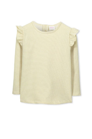 Milky Gold Glitter Frill Sweat