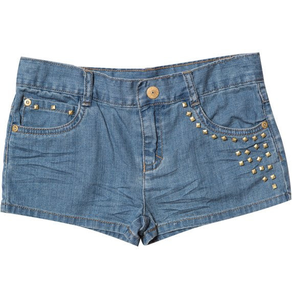 Tahlia by Minihaha Zuma Studded Denim Shorts