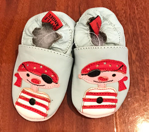 Blue Jack Pirate Leather Baby Shoes