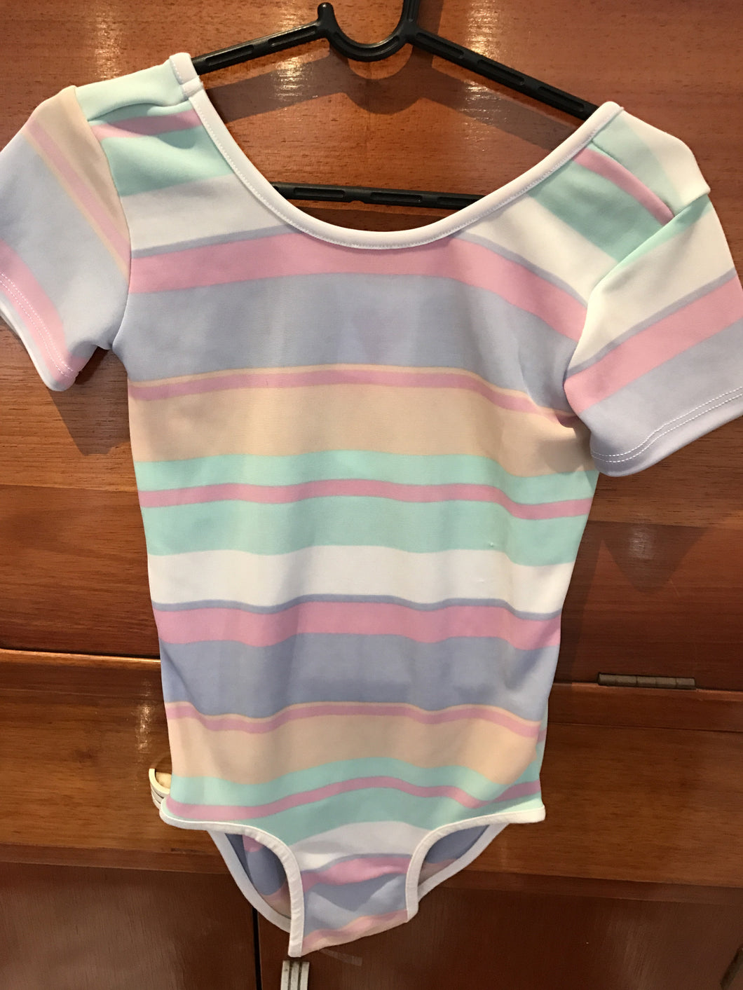 Little Hearts Co SORBET STRIPE | SHORT SLEEVE LEOTARD