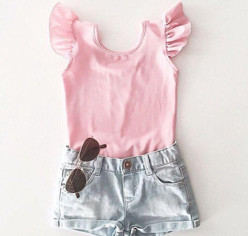 Little Hearts Co Short Seeve Luxe Frill