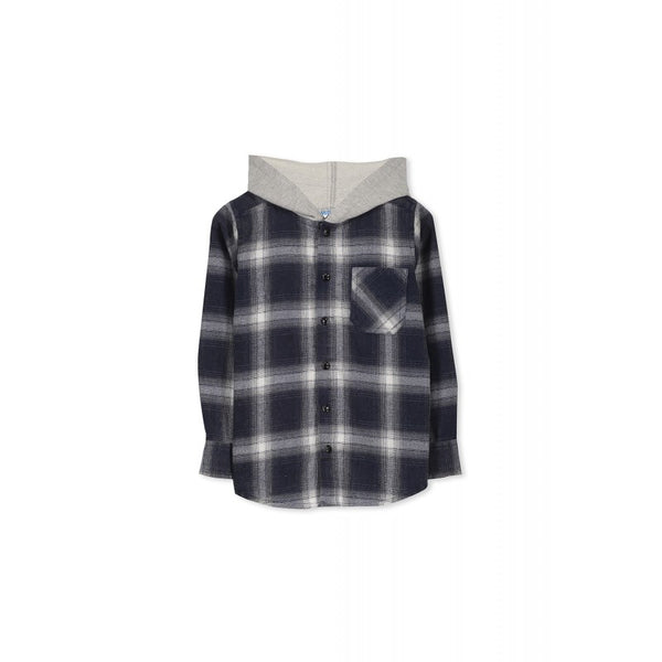 Milky Blue Check Shirt Size 3-7