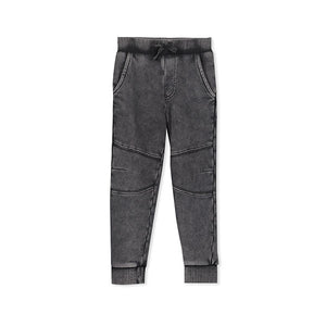 Milky Dyed Track Pant - Charcoal