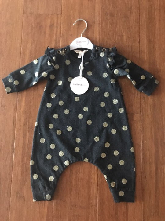 Fox and Finch Galaxy Spots Romper