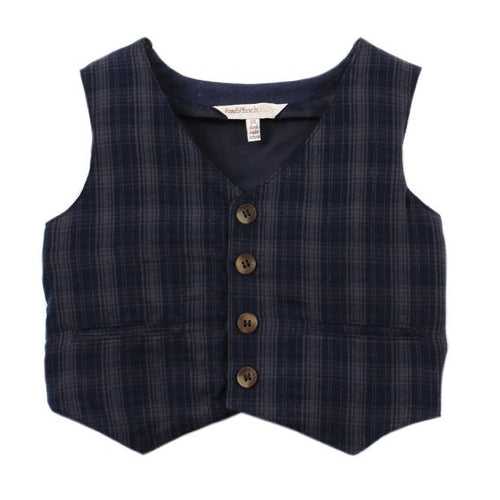 FOX & FINCH BABY Highlands Check Vest