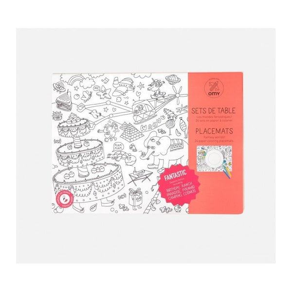 OMY Design and Play Colouring Placemat; Set of 24