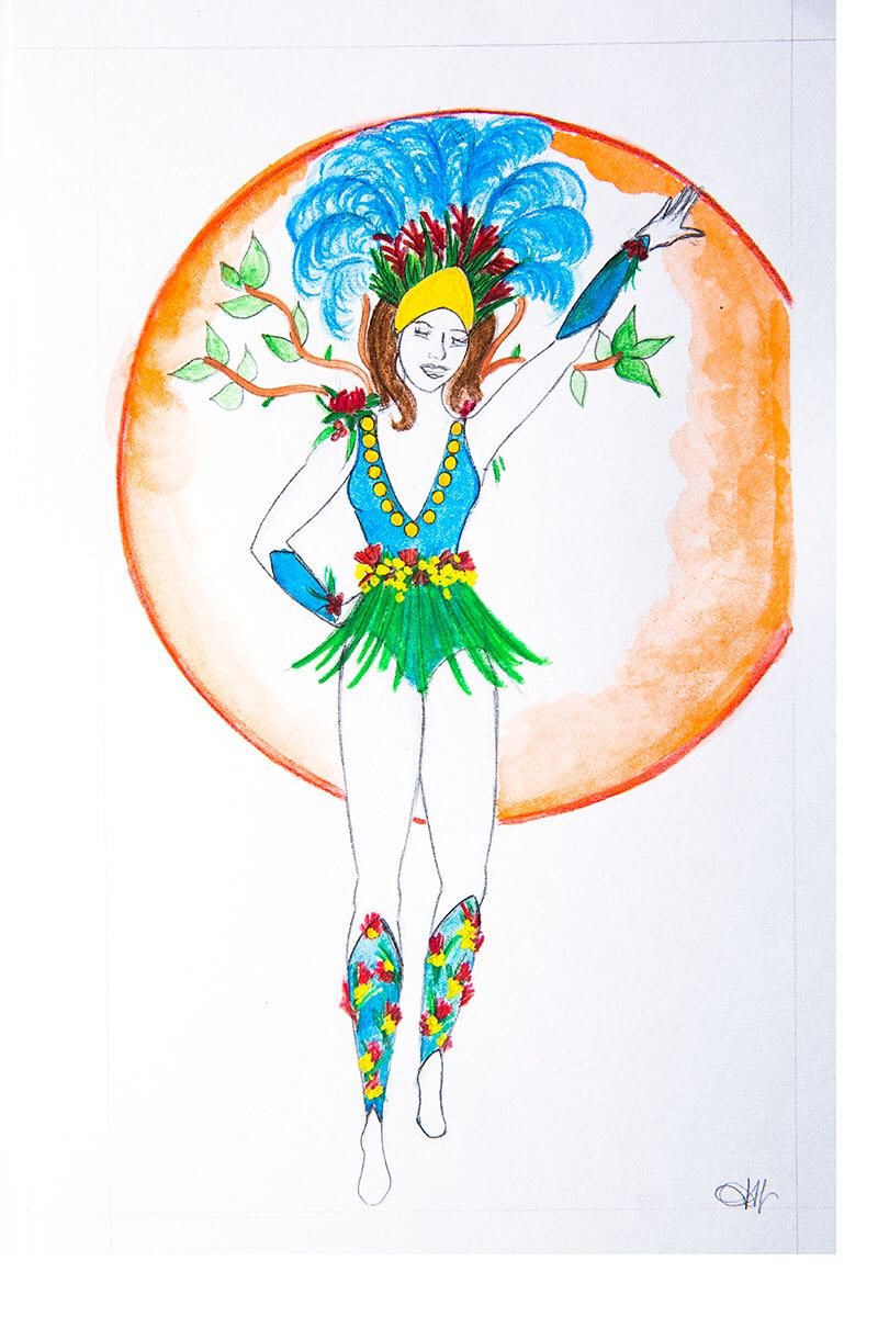 Samba Dancer Carnaval 19 Costume