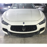 14-17 Maserati Ghibli Sedan Front Bumper Lip JC Style - Forged Carbon Fiber