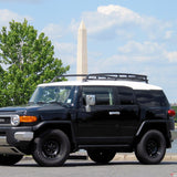 07-14 Toyota FJ Cruiser OE Style Black Roof Rack Rail Cross Bar