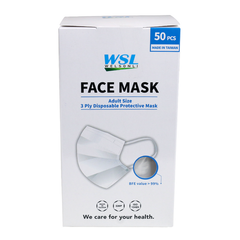 50 PCS Disposable Protective Face Mask Mouth & Nose Protector Respirator Fliter