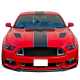 15-17 Ford Mustang Performance Front Bumper Lip Spoiler Carbon Fiber