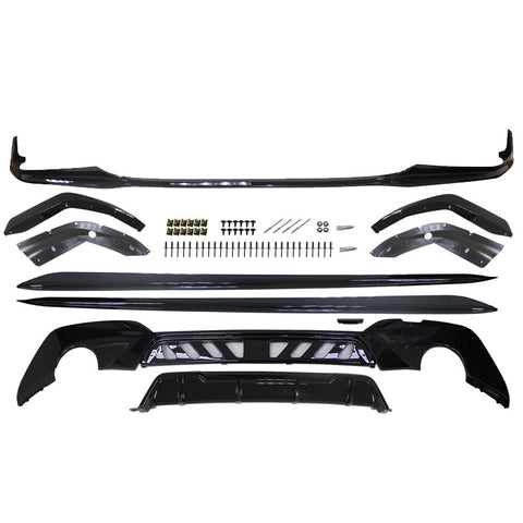 19-20 BMW G20 M-Performace Front Bumper Lip & Rear Diffuser & Side Skirts