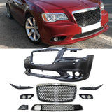 11-14 Chrysler 300 SRT8 Style Front Bumper Cover with Grille Bodykit PP