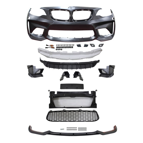 14-18 BMW F22 F23 2 Series M2 Style Front Bumper Conversion with Front Lip