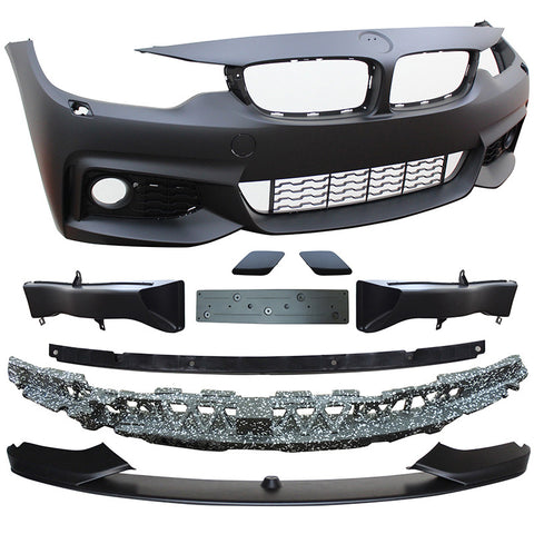14-16 BMW F32 F36 4 Series Front Bumper M-Performance Style with Fog Lamp Cover