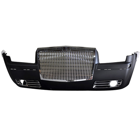 05-10 Chrysler 300  Front Bumper with Rolls-Royce Style Grille Chrome