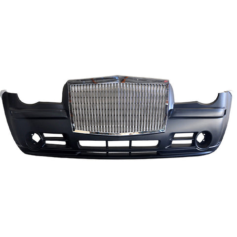 05-10 Chrysler 300C Front Bumper with Rolls-Royce Style Grille Chrome