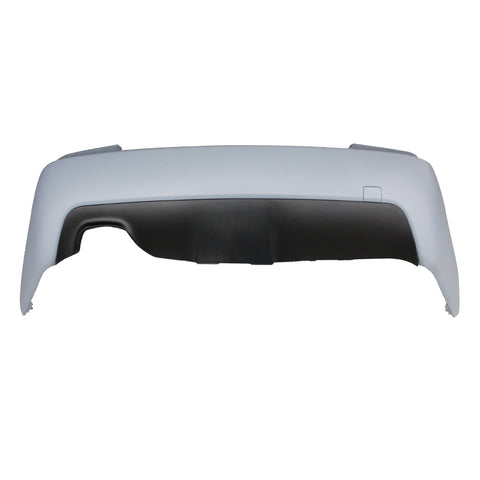 03-10 BMW E60 M-Tech Style Rear Bumper with Twin Muffler Single Outlet
