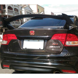 06-11 Honda Civic 8th FD1 FD2 Sedan 4Dr Gen X Type R Unpainted ABS Trunk Spoiler