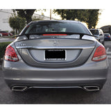 Universal Matte Black 2 Post Trunk Spoiler Wing with 3rd Brake LED Light - ABS