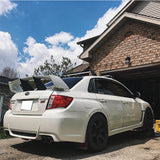 08-14 WRX 08-11 Impreza STI ABS Trunk Spoiler Wing Stabilizer 1PC & 3M Tape