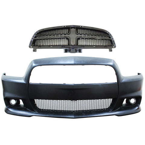11-14 Dodge Charger SRT8 Style Hellcat Conversion Front Bumper