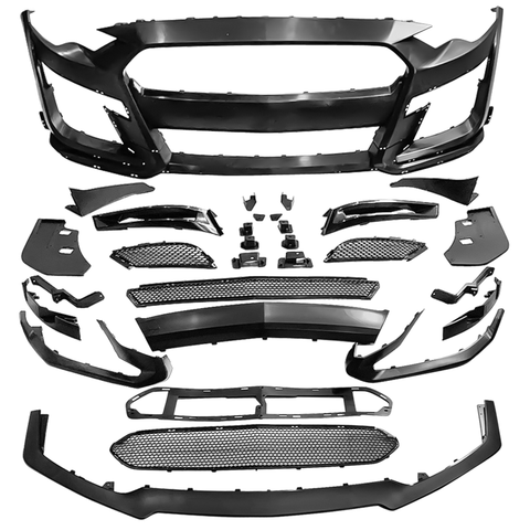 18-20 Ford Mustang GT500 Style Front Bumper Cover Replacement - PP