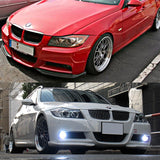 05-08 BMW E90 4D M-tech bumper only Front Bumper Lip Splitter Euro Style 2pcs