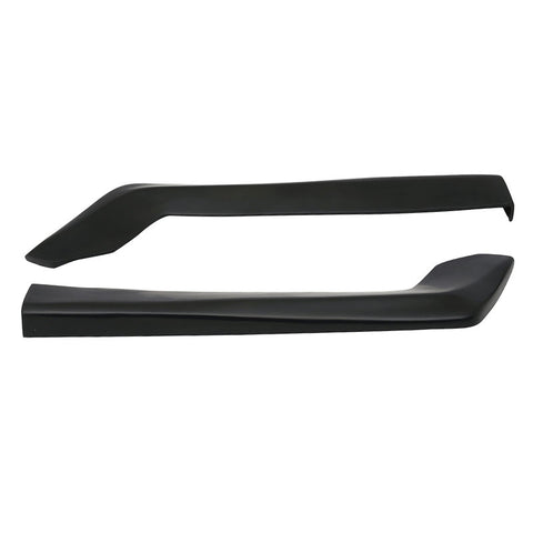 Universal 2Pc HT Style Rear Bumper Spats Sides Extension Splitter Lips - 20in PU