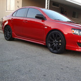 08-17 Mitsubishi Lancer Side Skirt Spoiler Splitter
