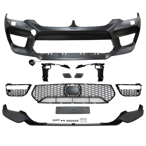 17-20 BMW G30 Sedan M5 Style Front Bumper Conversion w/ Lip & Fog Cover