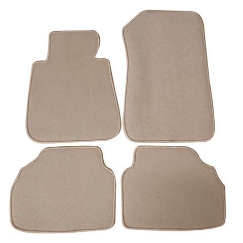 05-09 BMW E90 3 Series Floor Mats Carpet Front & Rear Beige 4PC Nylon