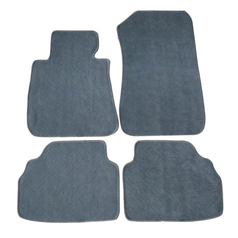 05-09 BMW E90 3 Series Floor Mats Carpet Front & Rear Gray 4PC Nylon