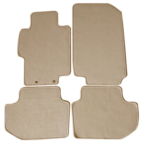 03-07 Honda Accord Floor Mats Carpet Front & Rear Beige 4PC Nylon