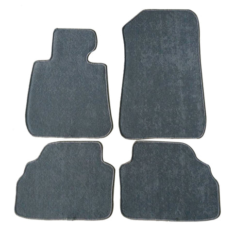 07-13 BMW E92 3-Series Floor Mats Carpet Front & Rear Gray 4PC Nylon
