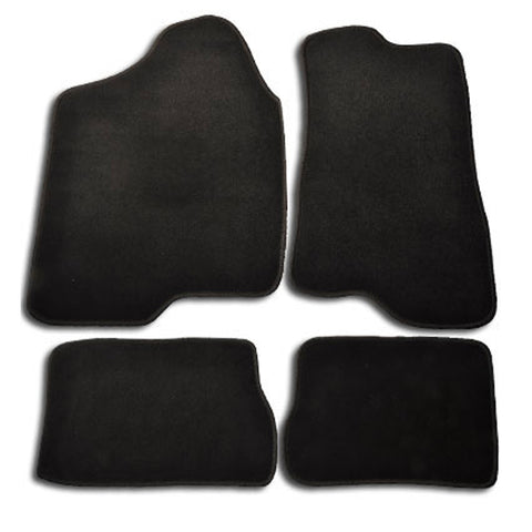 03-09 Hummer H2 4Dr Floor Mats Carpet Front & Rear Nylon Black 4PC