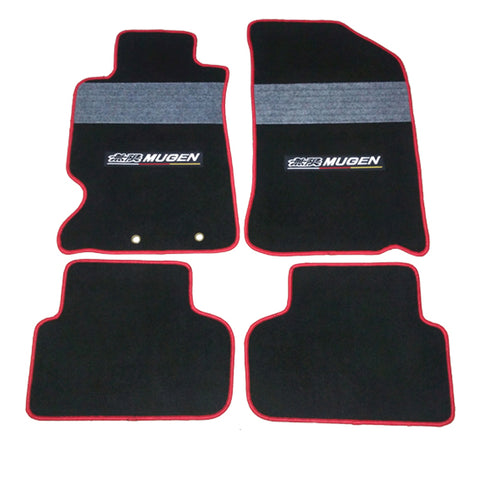 02-06 Acura RSX 2Dr OE Fitment MUGEN Floor Mat Nylon Black With Gray Stripe