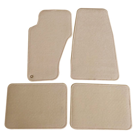 99-04 Jeep Grand Cherokee Floor Mats Carpet Front & Rear Beige 4PC - Nylon