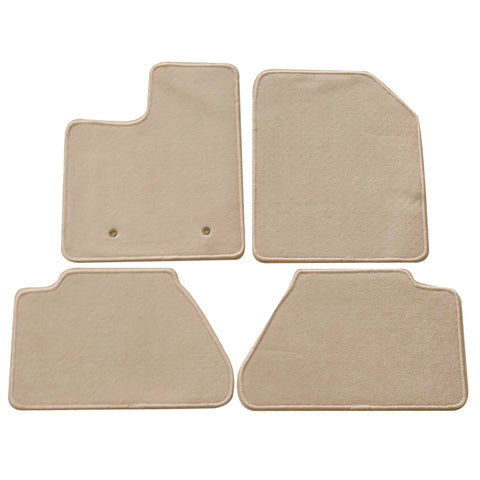 07-13 Ford Edge Floor Mats Carpet Front & Rear Beige 4PC Nylon
