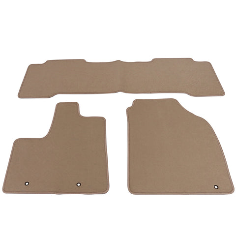 01-06 Acura MDX Floor Mats Carpet Front & Rear Beige 3PC Nylon