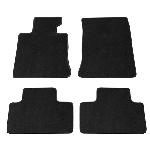 10-16 Hyundai Genesis Coupe Floor mats Black 4 Pieces Nylon