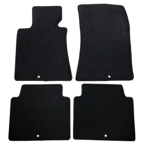 09-14 Hyundai Genesis Sedan Black Nylon Floor Mats Carpets