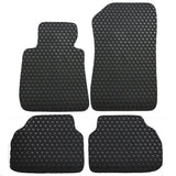 05-09 BMW E90 3 Series Floor Mats Carpet Front Rear Latex Black 4PC
