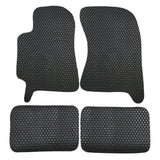 02-07 Subaru Impreza WRX  Floor Mats Carpet Front & Rear Latex Black 4PC