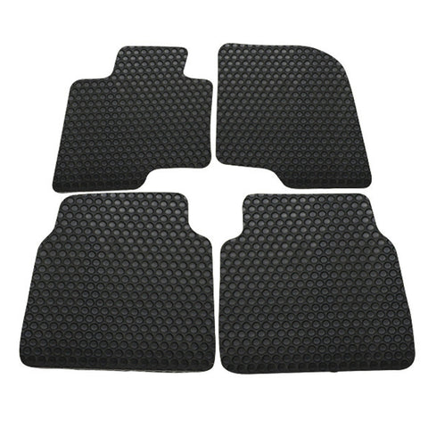 10-12 Hyundai Sonata 4Dr Floor Mats Cars Carpet Front Rear Latex Black 4PC